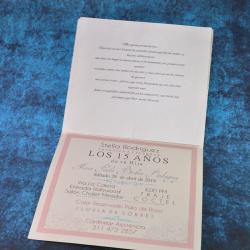 Tarjeta de invitación 12.5x14  - 3